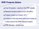 iprf program status