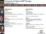 summary of new lsm groups amps dec 111