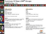 summary of new lsm groups amps dec 112