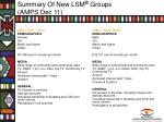 summary of new lsm groups amps dec 113