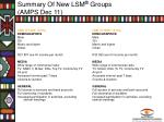 summary of new lsm groups amps dec 116