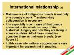 international relationship 1