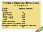 number of indigenous farm animals in hungary 2