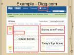 example digg com