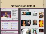 networks as data ii