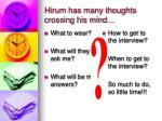 hirum has many thoughts crossing his mind