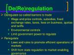 de re regulation
