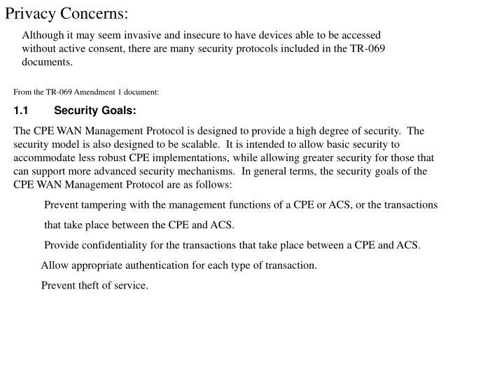 Privacy Concerns: