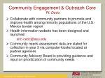 community engagement outreach core pi davis