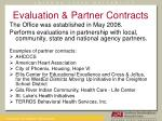 evaluation partner contracts