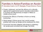 families in action familias en acci n pi gonz lez castro co pi marsiglia project director parsai