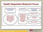 health disparities research focus