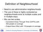 definition of neighbourhood