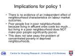 implications for policy 1
