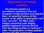 degradation of foreign proteins