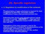 ii specific regulation