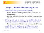 stage 7 front end processing fep