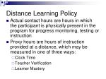 distance learning policy1