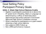 goal setting policy participant primary goals5