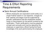 time effort reporting requirements2