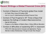 recent writings re global financial crisis gfc