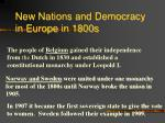 new nations and democracy in europe in 1800s