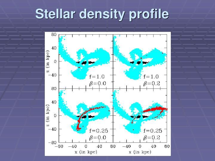 Stellar density profile
