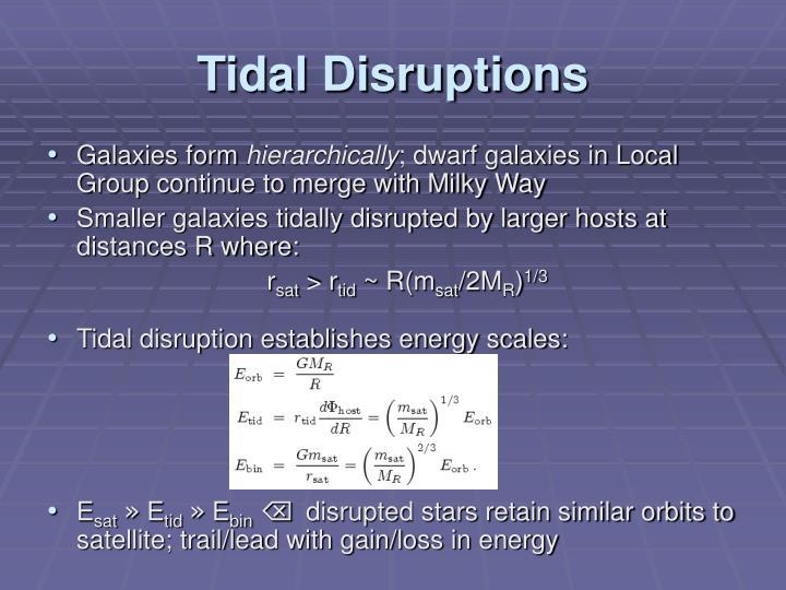 Tidal Disruptions