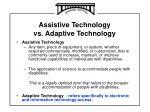 assistive technology vs adaptive technology