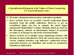 4 quantification estimation of the volume of money laundering 4 1 general remarks cont