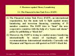 5 measures against money laundering 5 1 the financial action task force fatf