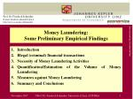 money laundering some preliminary empirical findings