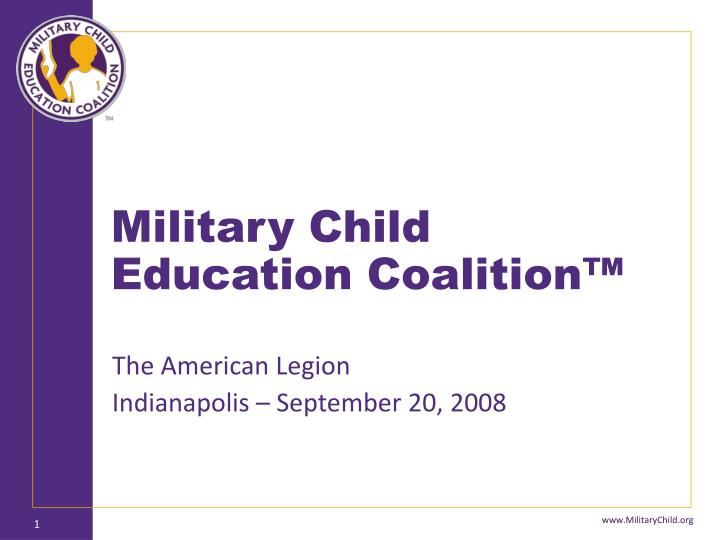 military child education coalition n.