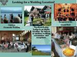 looking for a wedding location