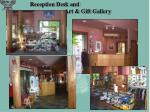 reception desk and art gift gallery