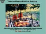 traditional salmon barbecue sampling