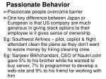 passionate behavior