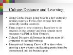 culture distance and learning