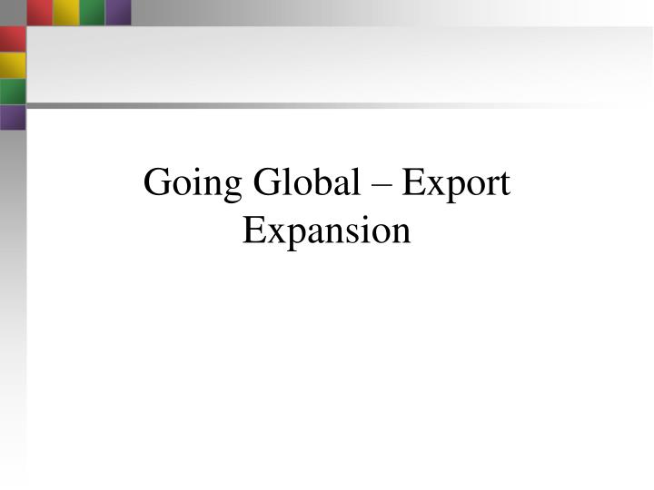 going global export expansion n.