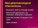 non pharmacological interventions