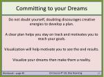 committing to your dreams