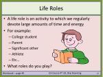 life roles