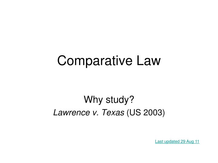 comparative law n.