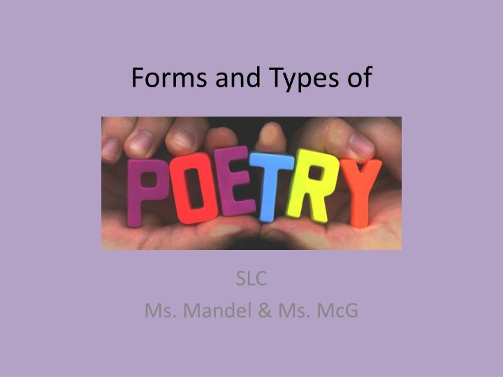 forms and types of n.