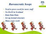 bureaucratic hoops