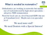 what is needed in restorative
