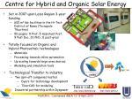 centre for hybrid and organic solar energy