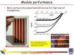 module performance