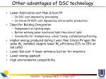 other advantages of dsc technology