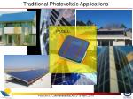 traditional photovoltaic applications